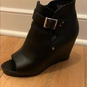 Torrid Black wedge booties